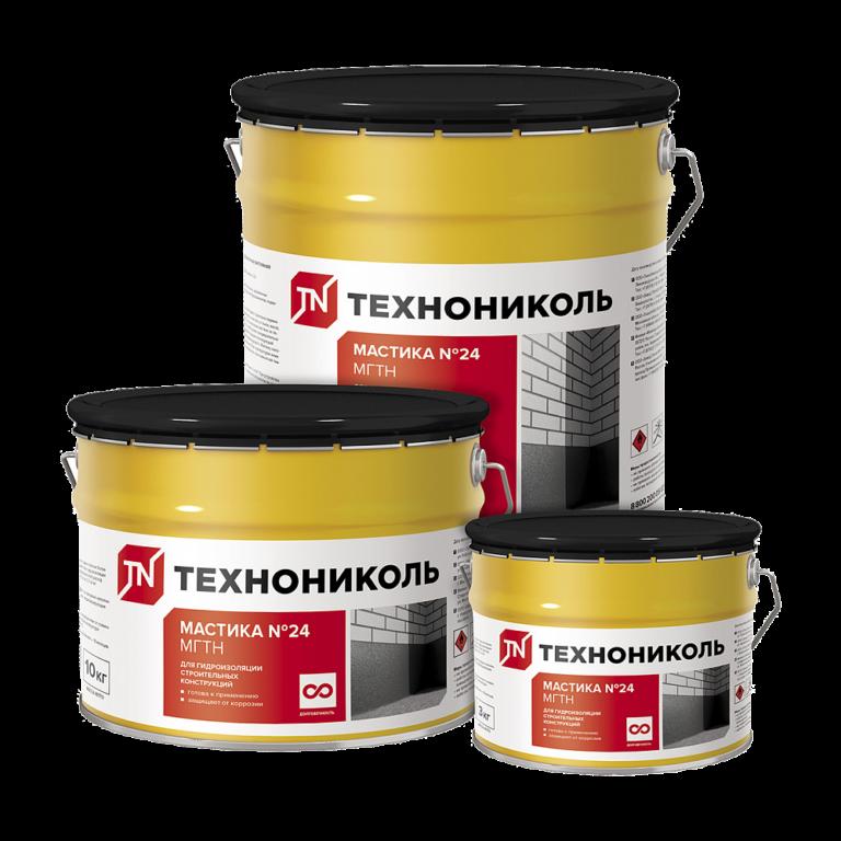 Мастика гидроизоляционная ТЕХНОНИКОЛЬ № 24 (МГТН)