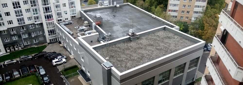 покрытие для плоской крыши из рубероида фото