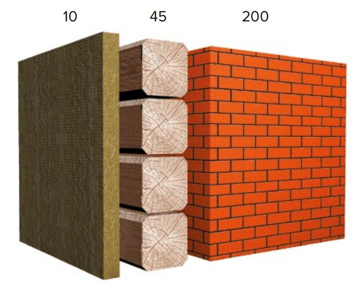 Сравнение материалов при одинаковой теплосберегающей способности