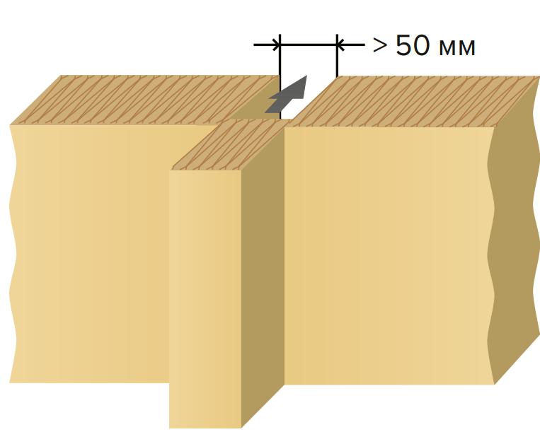 Рис. 6. Заполнение зазоров между плитами теплоизоляционного материала